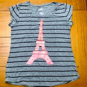 Girls Eiffel tower tee